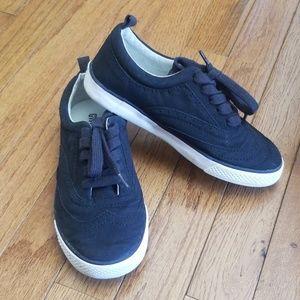Gymboree size 1 Y boys black oxford tennis shoes